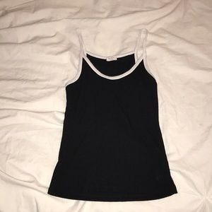 black tank with white trim